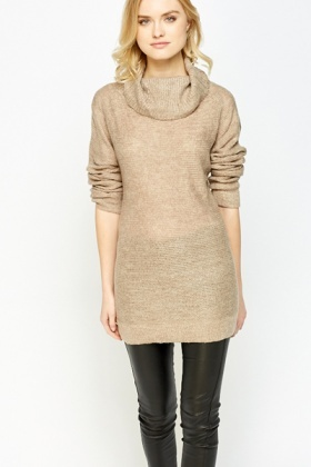 Loose Fit Cowl Neck Jumper