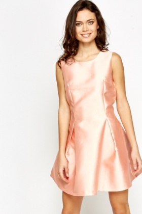 Shimmer Pleated Party Dress