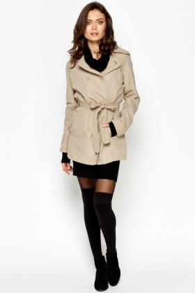 Short Button Up Mac Coat