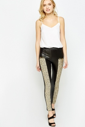 Black Leopard Print Leggings