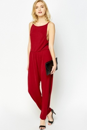 Slit Leg Sleeveless Jumpsuit