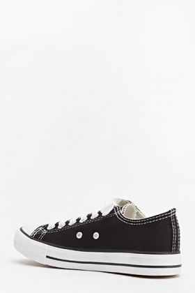 Black Canvas Denim Trainers