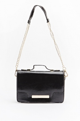 Faux Leather Mini Shoulder Bag
