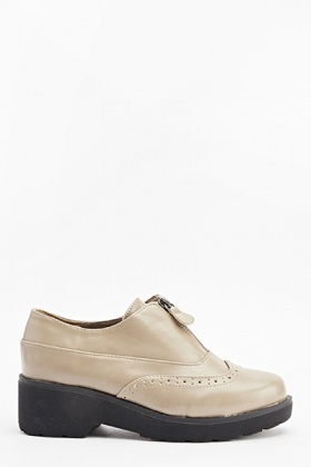 Laser Cut Zip Detail Shoes