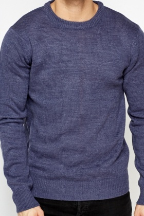 Basic Knitted Ribbed Sweater