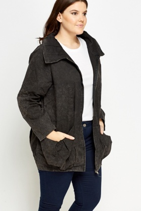 Black Denim Look Jacket