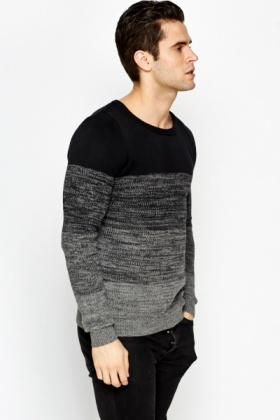 Contrast Striped Round Neck Jumper