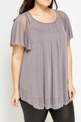 Lavender Batwing Sleeve Top