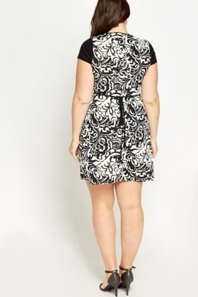 Mono Ornate Shift Dress