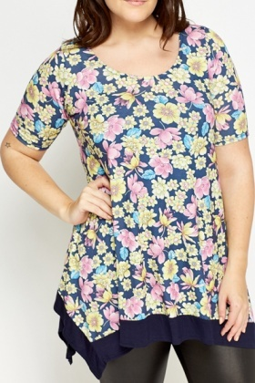 Multi Navy Floral Tunic