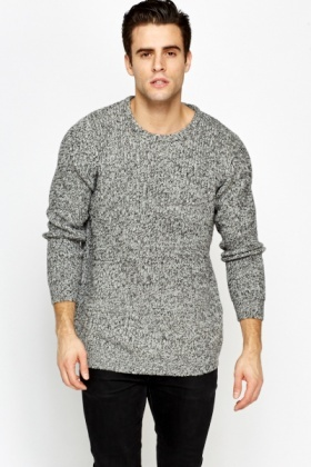Round Neck Speckled Jumper