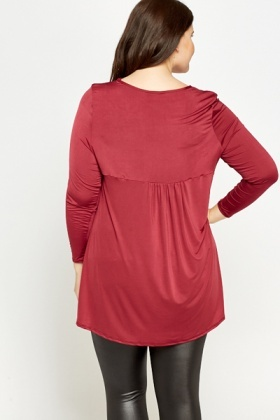 Sheer Floaty Long Sleeve Top