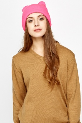 Bear Ears Beanie Hat