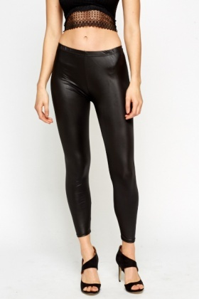 Black Wet Look Leggings