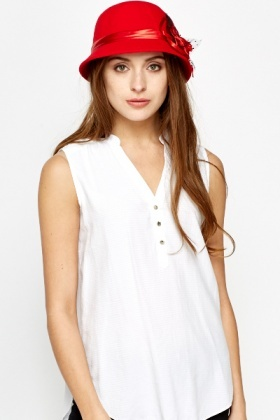Mesh Rose Side Hat