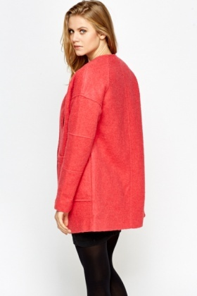 Rose Textured Duster Coat