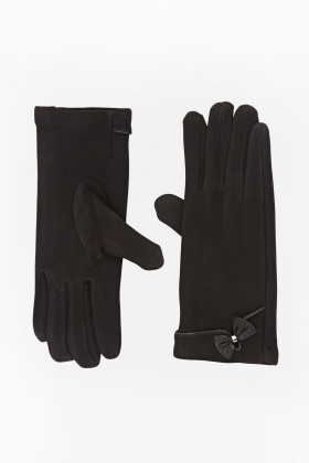 Spandex Front Bow Gloves