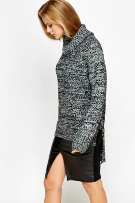 Speckled Loose Dip Back Jumper