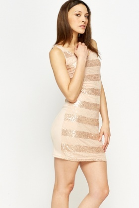 Contrast Sequin Lace Dress