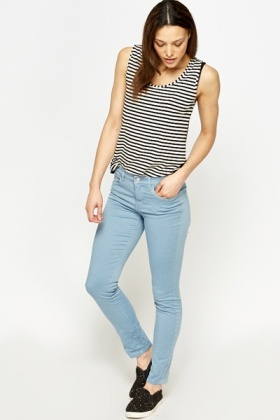 Cropped Casual Jeans