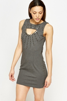 Embellished Cut Out Bodycon Dress