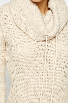Loose Knit Drawstring Jumper