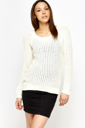 Loose Knit Short Jumper