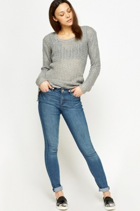 Womens Denim Fitted Jeans