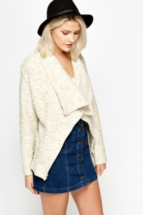 Chunky Cotton Speckled Cardigan