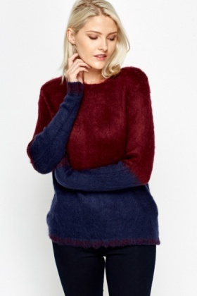 Colour Block Soft Jumper