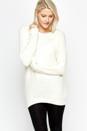 Long Knitted Loose Jumper