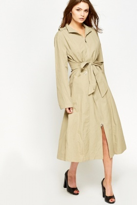 Long Tie Up Coat