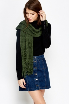 Knitted Tassel Scarf