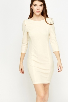Metallic Zip Detail Dress
