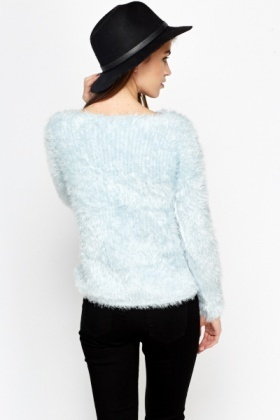 Sky Blue Fluffy Jumper