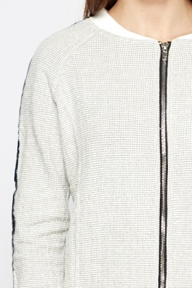 Square Grid Contrast Jacket