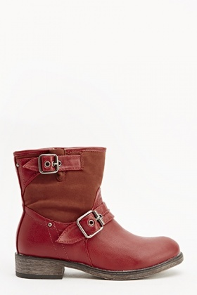 Twin Side Buckle Boots