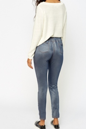 Blue Stretch Jeggings