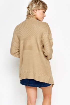 Frayed Waterfall Open Cardigan