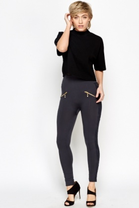 High Waist Lace Panel Leggings