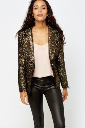 Metallic Blazer Jacket