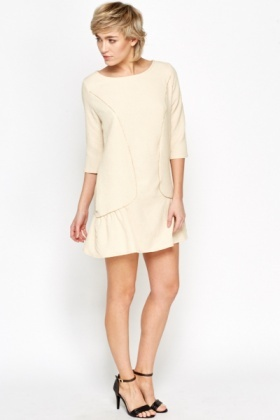 Flared Hem Contrast Dress