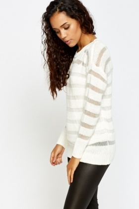Loose Knit Stripe Pullover