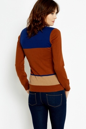 Slim Fit Colour Block Jumper