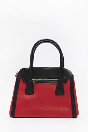 Colour Block Bowler Handbag