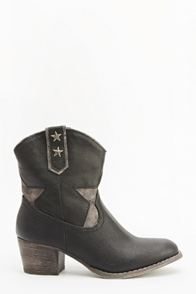 Star Embellished Ankle Boots