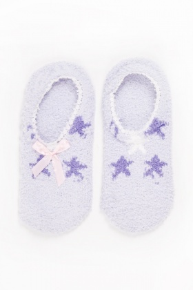 Star Print Slipper Socks