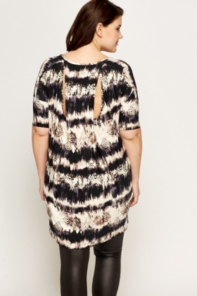 Black Geo Pattern Tunic