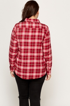 Cotton Blend Chequered Shirt