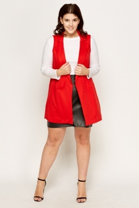 Red Sleeveless Gilet